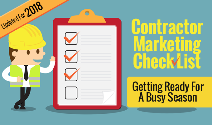 Contractor Marketing Check List Prepping For A Busy Season